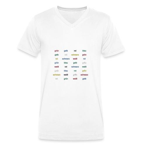 Stroop Effekt deutsch - Männer Bio-T-Shirt mit V-Ausschnitt von Stanley & Stella