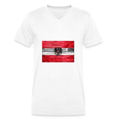 Austria Holz - Männer Bio-T-Shirt mit V-Ausschnitt von Stanley & Stella
