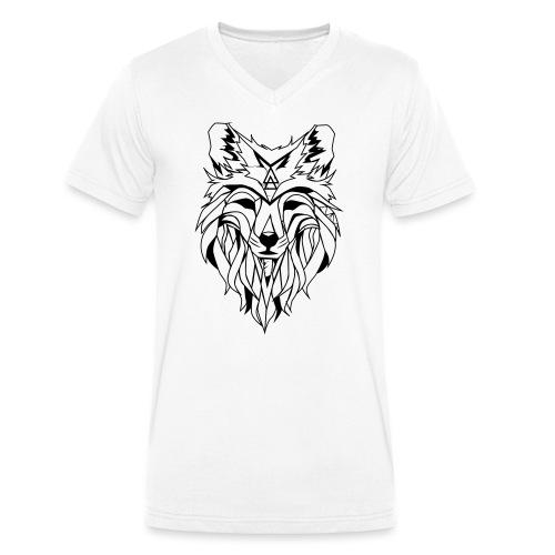 Hipster Wolf - Männer Bio-T-Shirt mit V-Ausschnitt von Stanley & Stella