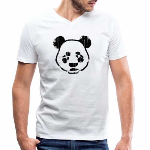 Panda - Mannen bio T-shirt met V-hals van Stanley & Stella