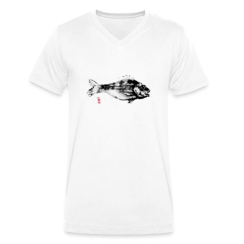 Poisson Noir par Jack M. - T-shirt bio col V Stanley & Stella Homme