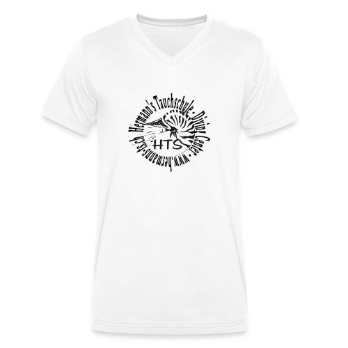 HTS Logo weiss - Männer Bio-T-Shirt mit V-Ausschnitt von Stanley & Stella