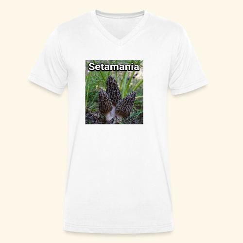Colmenillas setamania - Camiseta ecológica hombre con cuello de pico de Stanley & Stella