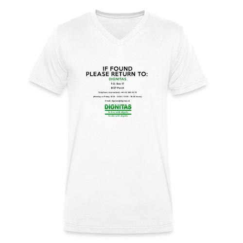 dignitas - If found please return - Men's Organic V-Neck T-Shirt by Stanley & Stella