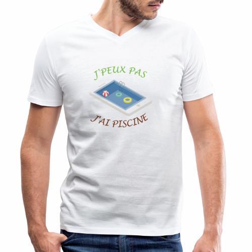 J'peux pas j'ai piscine - T-shirt bio col V Stanley & Stella Homme