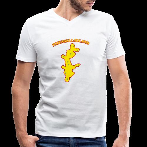 T-shirt, Pizzasalladland - Ekologisk T-shirt med V-ringning herr från Stanley & Stella