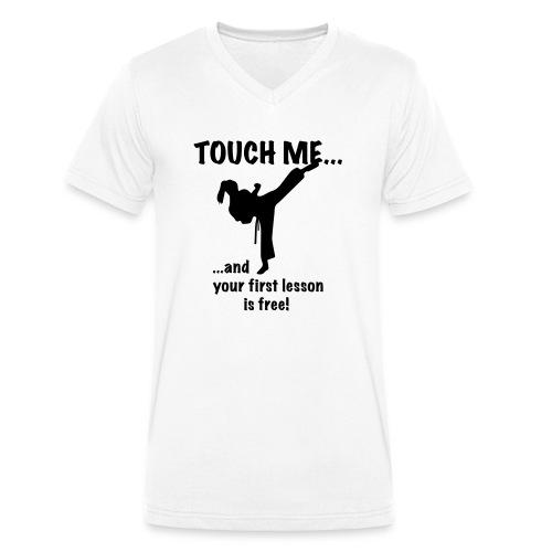 touch me for free lesson - Männer Bio-T-Shirt mit V-Ausschnitt von Stanley & Stella