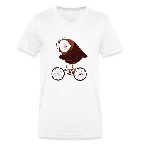 Cycling Owl - Männer Bio-T-Shirt mit V-Ausschnitt von Stanley & Stella