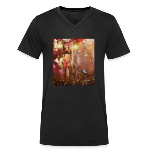 herbst Sinfonie - Männer Bio-T-Shirt mit V-Ausschnitt von Stanley & Stella