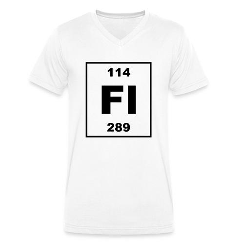 Flerovium (Fl) (element 114) - Men's Organic V-Neck T-Shirt by Stanley & Stella