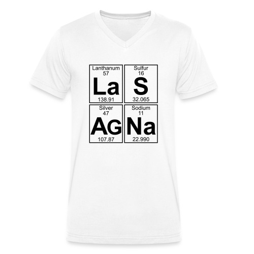 La-S-Ag-Na (lasagna) - Full - Men's Organic V-Neck T-Shirt by Stanley & Stella