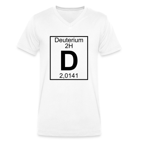 D (Deuterium) - Element 2H - pfll - Men's Organic V-Neck T-Shirt by Stanley & Stella