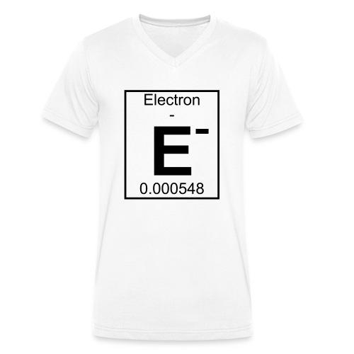 E (electron) - pfll - Men's Organic V-Neck T-Shirt by Stanley & Stella