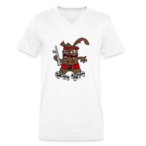 Terrorhase 2.0 - Männer Bio-T-Shirt mit V-Ausschnitt von Stanley & Stella