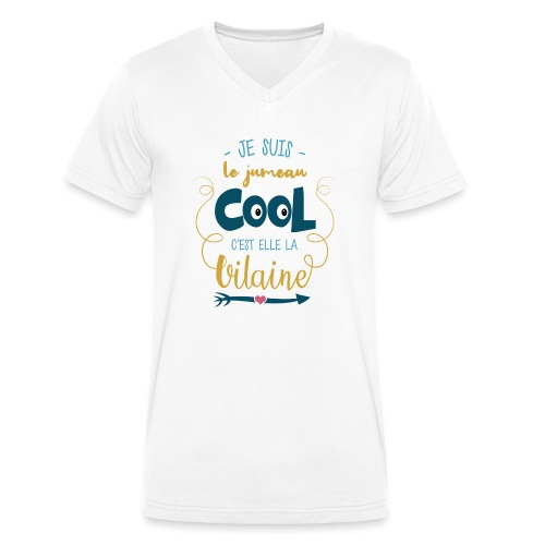 jumeaux cool - T-shirt bio col V Stanley & Stella Homme