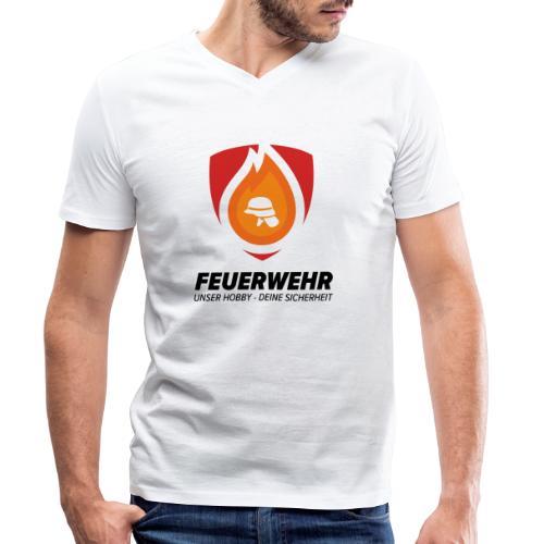 Feuerwehr - Unser Hobby - Deine Sicherheit - Männer Bio-T-Shirt mit V-Ausschnitt von Stanley & Stella