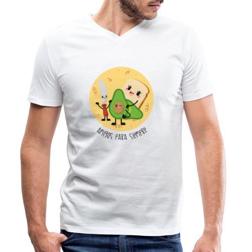 Amigos para siempre 2 - Camiseta ecológica hombre con cuello de pico de Stanley & Stella