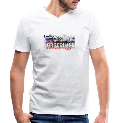 Limited Edition Horseguard Pferd Reiten - Männer Bio-T-Shirt mit V-Ausschnitt von Stanley & Stella