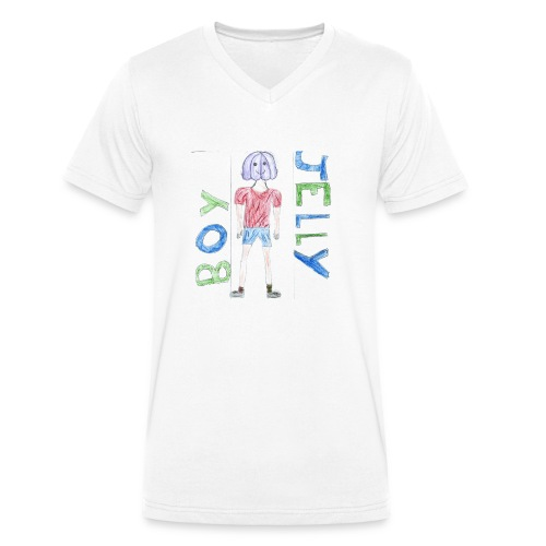 Awesome drawing made by: 'Anonymous' - Men's Organic V-Neck T-Shirt by Stanley & Stella