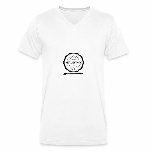 REAL ESTATE. - Camiseta ecológica hombre con cuello de pico de Stanley & Stella