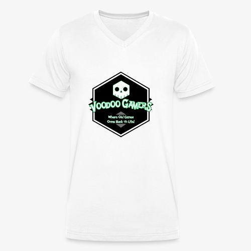 Show your Voodoo Gaming Retro Love! - Men's Organic V-Neck T-Shirt by Stanley & Stella