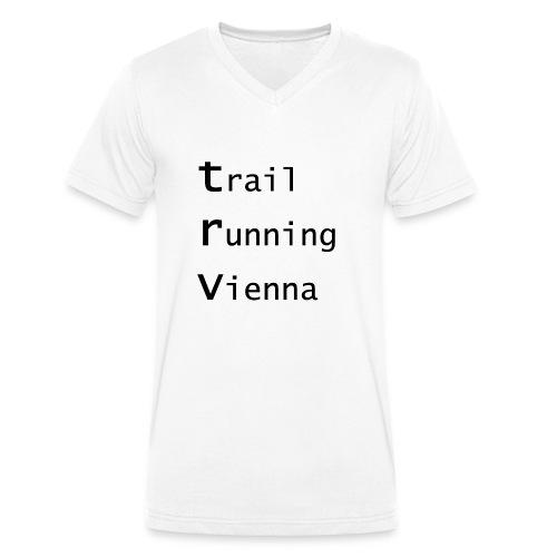 TRV Black 3zeilig - Männer Bio-T-Shirt mit V-Ausschnitt von Stanley & Stella