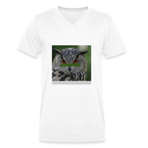 JohannesB lue - Økologisk T-skjorte med V-hals for menn fra Stanley & Stella