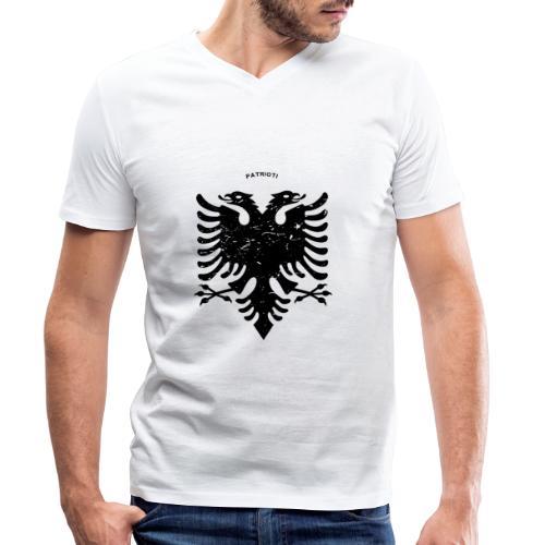 Albanischer Adler im Vintage Look - Patrioti - Männer Bio-T-Shirt mit V-Ausschnitt von Stanley & Stella