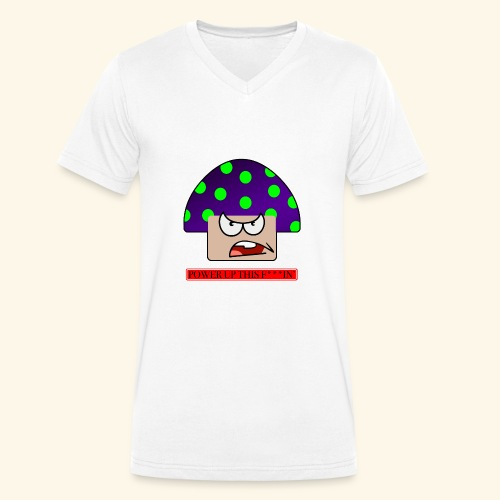 Angry mushroom - T-shirt ecologica da uomo con scollo a V di Stanley & Stella