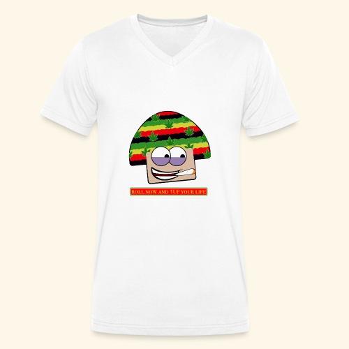 mushroom ganja-man - T-shirt ecologica da uomo con scollo a V di Stanley & Stella