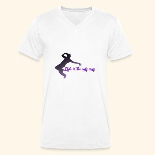 Style is the new life - T-shirt ecologica da uomo con scollo a V di Stanley & Stella