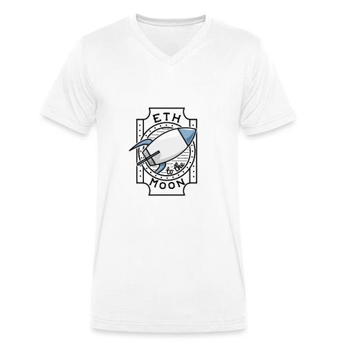 ETH to the Moon - Männer Bio-T-Shirt mit V-Ausschnitt von Stanley & Stella