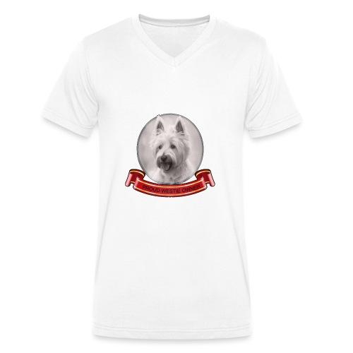 Proud dog owner - Men's Organic V-Neck T-Shirt by Stanley & Stella