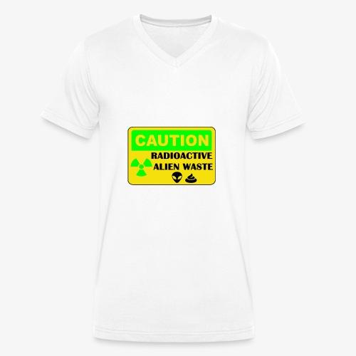 Attention ! Déchets aliens radioactifs - T-shirt bio col V Stanley & Stella Homme