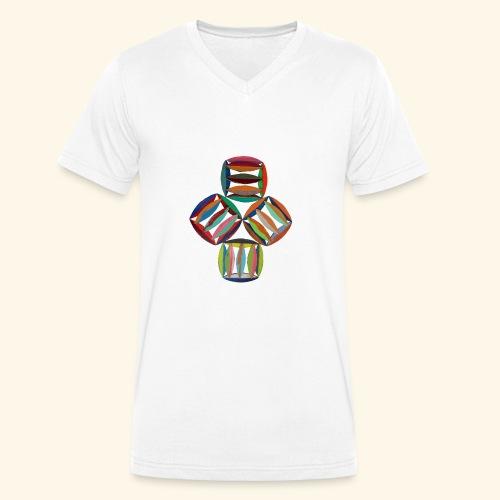 square2square - Mannen bio T-shirt met V-hals van Stanley & Stella
