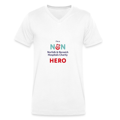 I'm an N&N Hero - Men's Organic V-Neck T-Shirt by Stanley & Stella