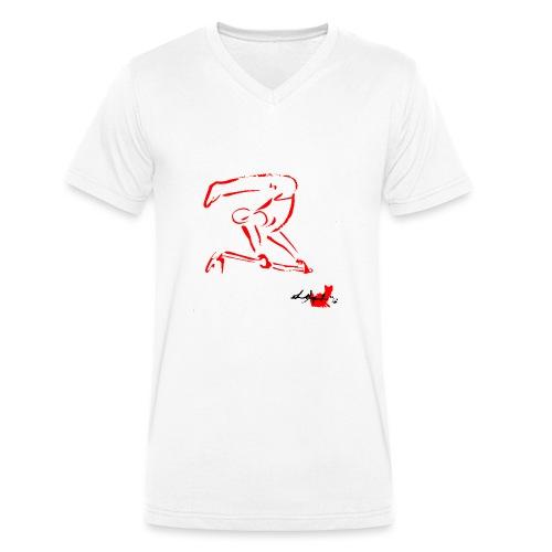 GINNASTA ALLA SBARRA ROSSO - T-shirt ecologica da uomo con scollo a V di Stanley & Stella