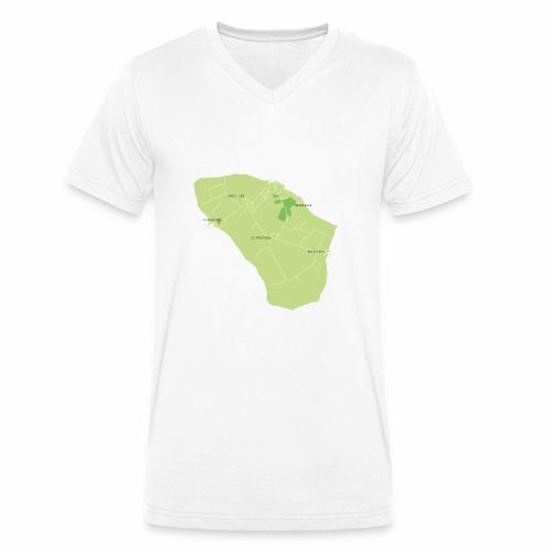 Hven den skønne ø mellem Sverige og Danmark - Økologisk Stanley & Stella T-shirt med V-udskæring til herrer