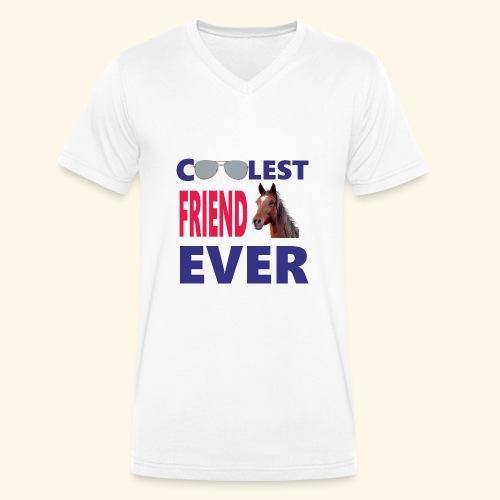 Cavalli - T-shirt ecologica da uomo con scollo a V di Stanley & Stella