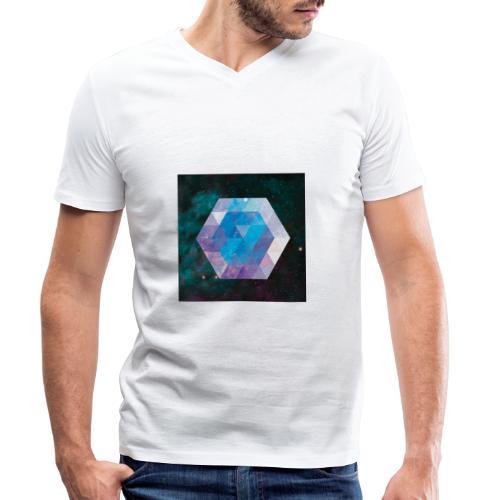 Galaxie hexagone - T-shirt bio col V Stanley & Stella Homme