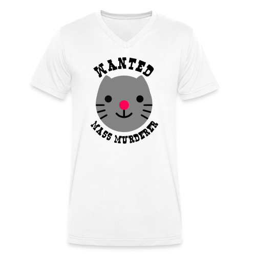 Wanted cat - T-shirt bio col V Stanley & Stella Homme