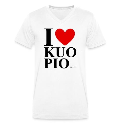 I LOVE KUOPIO ORIGINAL (musta) - Stanley & Stellan miesten luomupikeepaita
