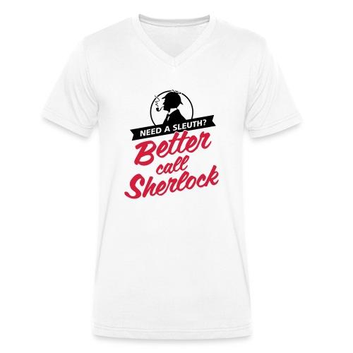 Better Call Sherlock - Männer Bio-T-Shirt mit V-Ausschnitt von Stanley & Stella