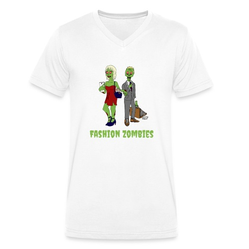 Fashion Zombie - Men's Organic V-Neck T-Shirt by Stanley & Stella