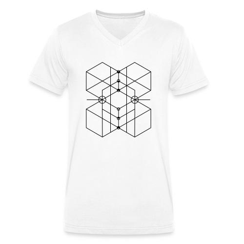 Sacred Geometry 3 - Männer Bio-T-Shirt mit V-Ausschnitt von Stanley & Stella