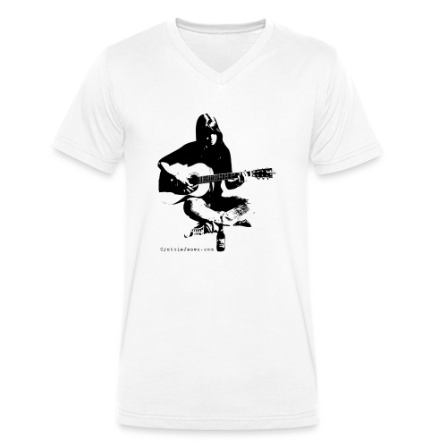 Cynthia Janes guitar BLACK - Men's Organic V-Neck T-Shirt by Stanley & Stella