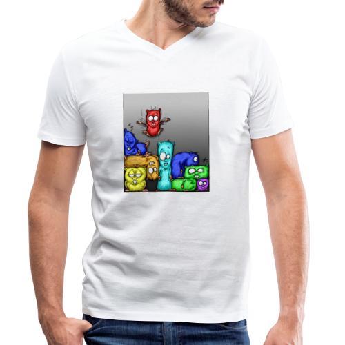 hamstris_farbe - Männer Bio-T-Shirt mit V-Ausschnitt von Stanley & Stella