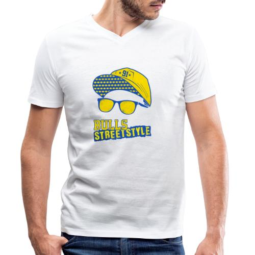 Bulls Streetstyle Yellow - Männer Bio-T-Shirt mit V-Ausschnitt von Stanley & Stella