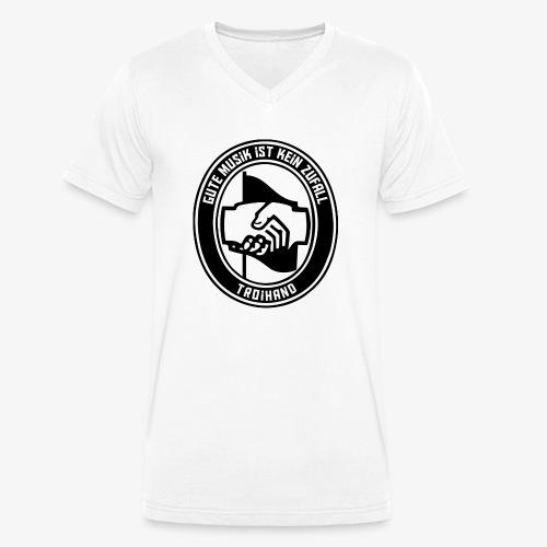 Logo Troihand - Männer Bio-T-Shirt mit V-Ausschnitt von Stanley & Stella