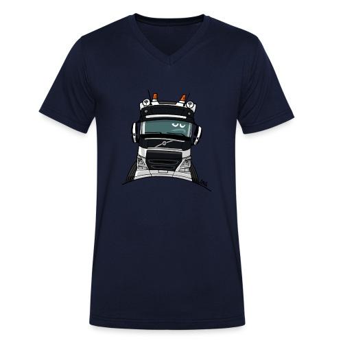 0488 V truck wit - Mannen bio T-shirt met V-hals van Stanley & Stella